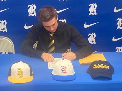Sam Mills signs with Oglethorpe University