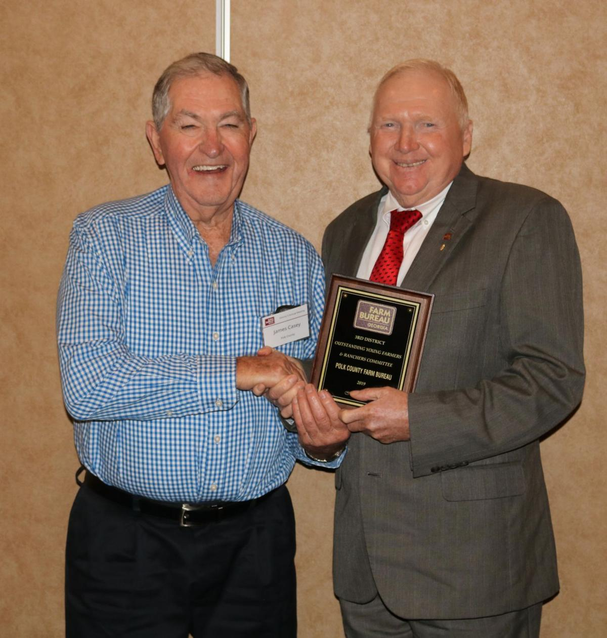 Polk County Farm Bureau award