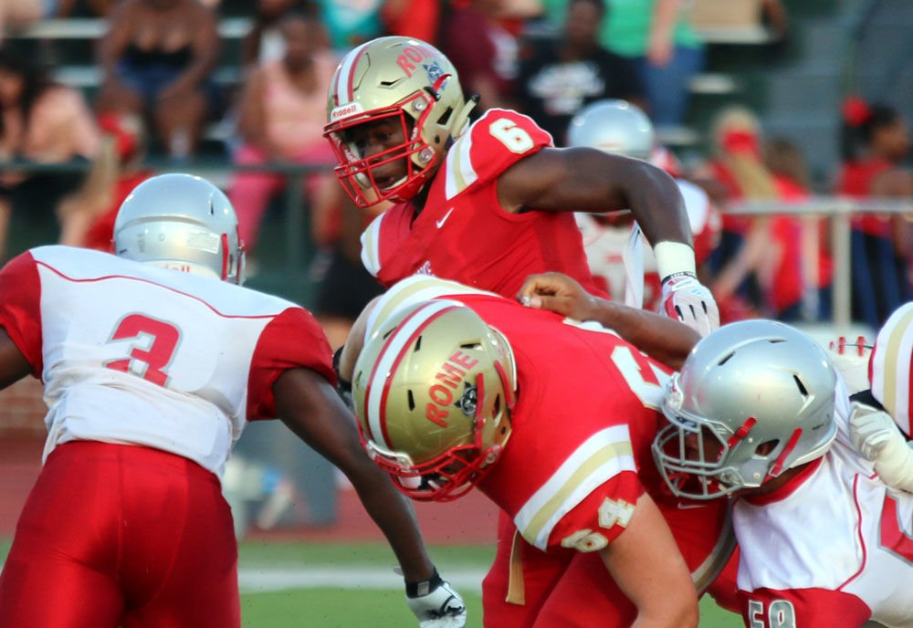 FOOTBALL: Rome preseason scrimmage vs. New Manchester