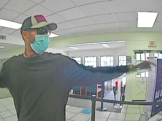 Rome bank robbery surveillance screenshot