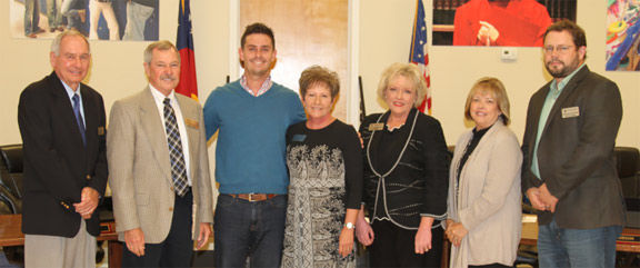 Ty Cook (center) is this year's Teacher of the Year for the Catoosa County  school system.