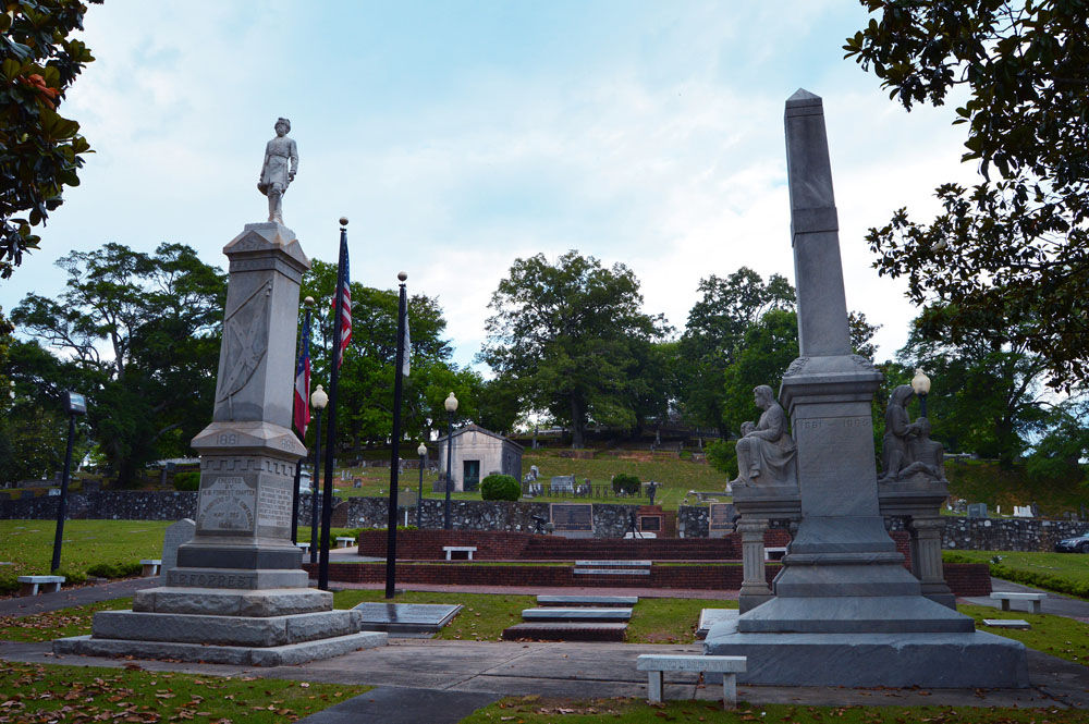 Print GA. ROME FIRST MONUMENT WOMAN OF THE CONFEDERACY