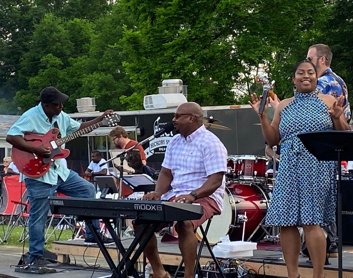 Well over 200 people packed into Parks Hoke Park for South Rome Alliance benefit concert
