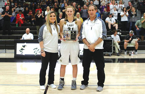 Jana Johns honored for becoming Calhoun's all-time leading scorer
