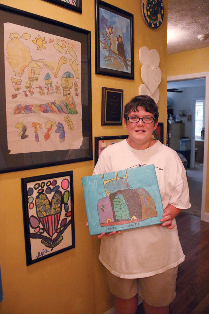 Mother, artist continues to create