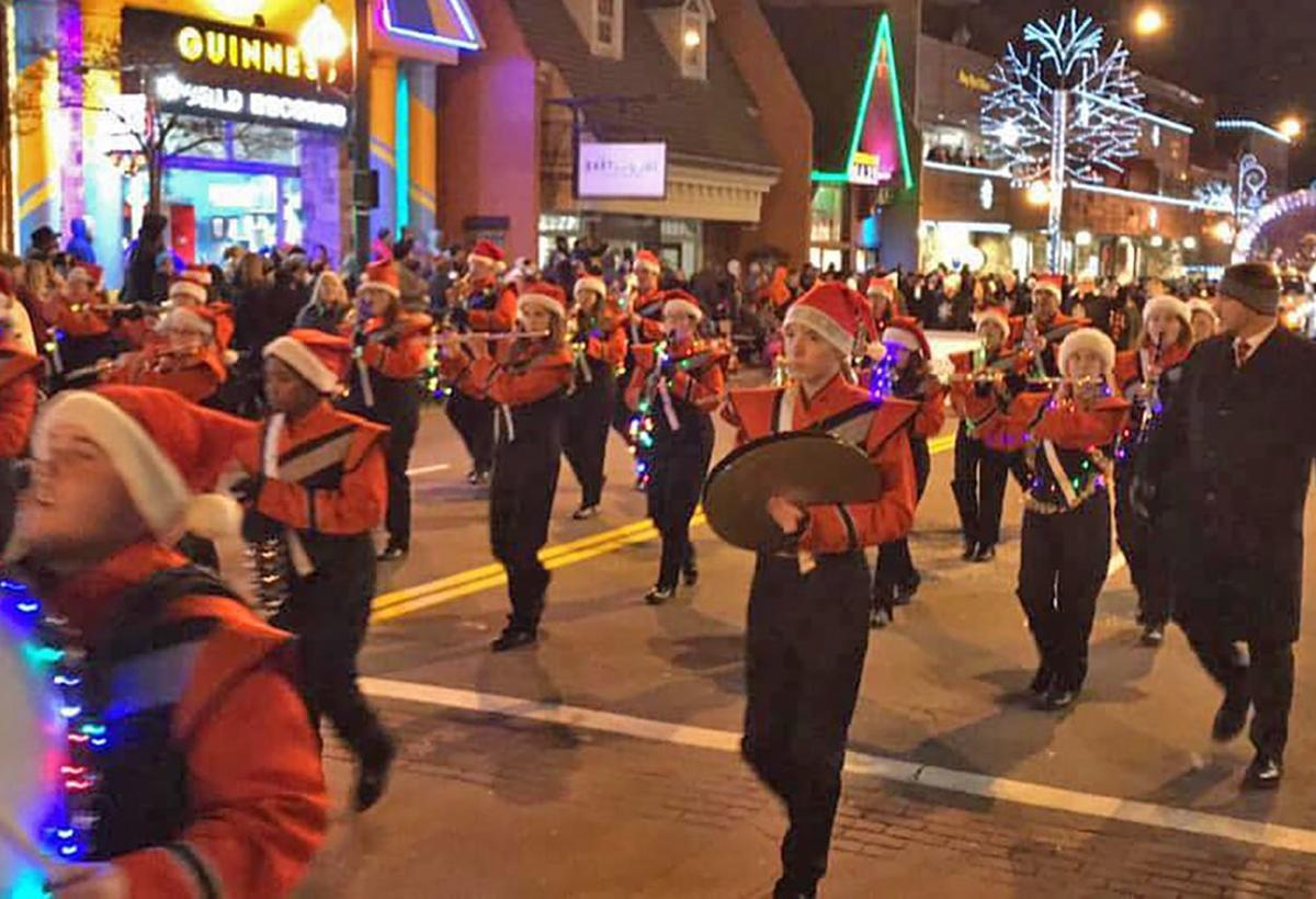 LaFayette High School Band marches in