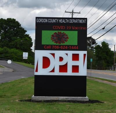 Gordon DPH Health Department sign