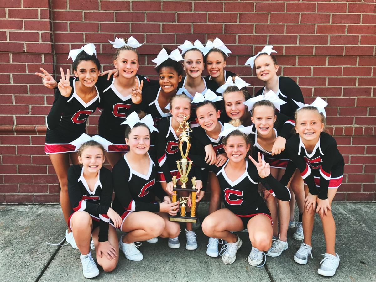 Cedartown Middle School cheer squad