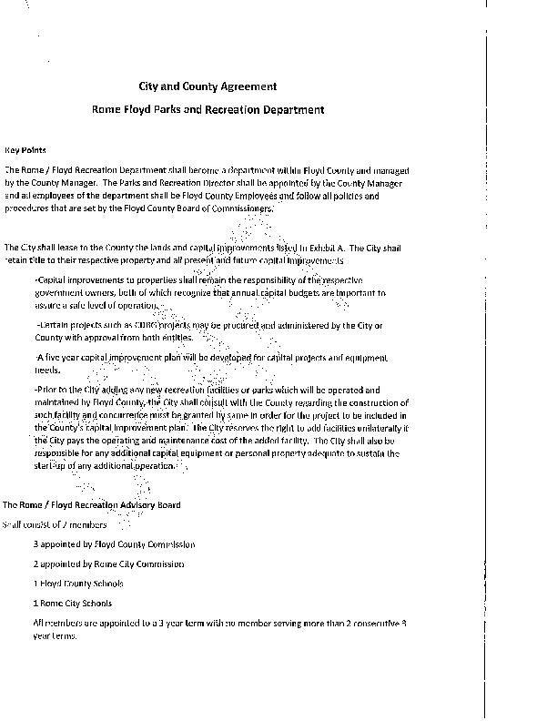 Draft Recreation Authority Agreement Northwestgeorgianews