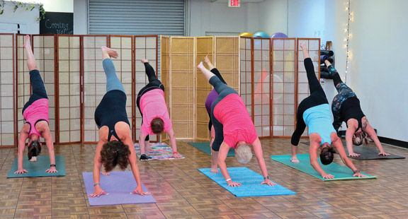 Many yoga moves