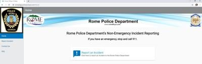 Rome police hoping new online reporting tool catches on