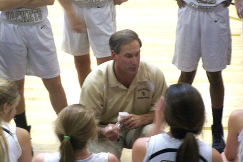 Calhoun girls coach Jerry Pruett