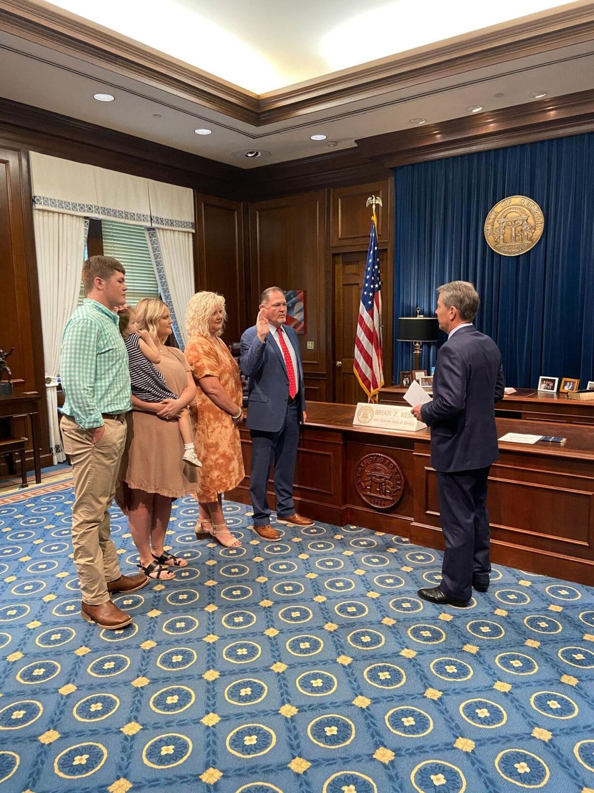 Floyd County Commissioner Scotty Hancock sworn into Georgia Criminal Justice Coordinating Council