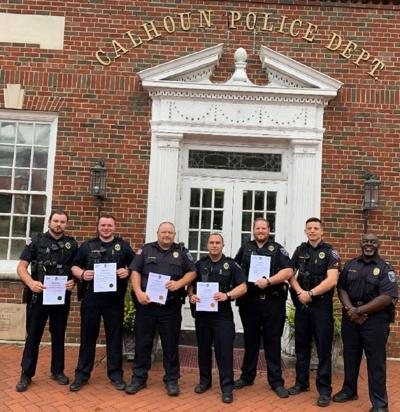 Calhoun Police Department officers recognized for heroism