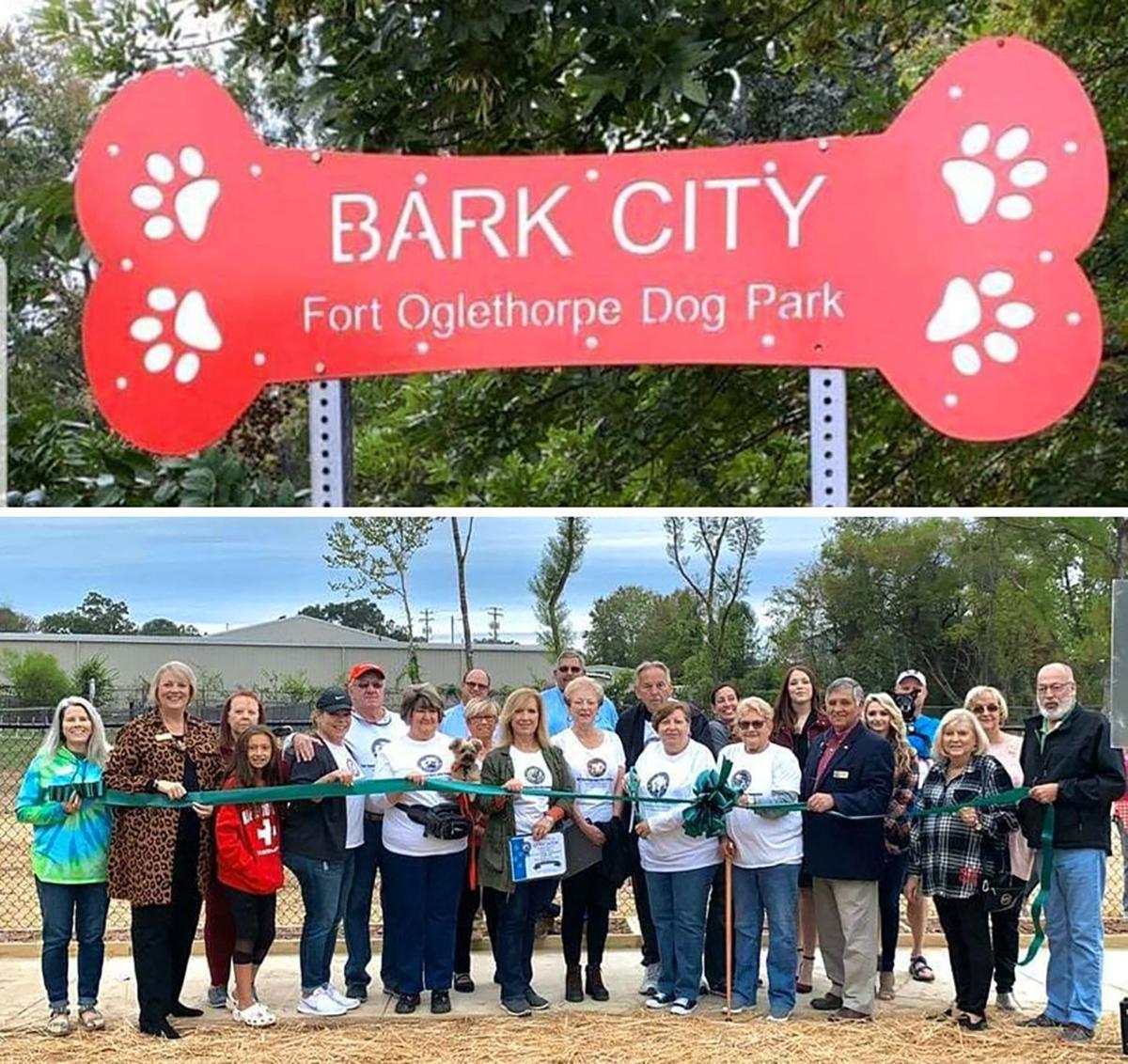 Bark City Fort O grand opening ribbon cutting