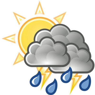 Today's weather: Rain early, then partly sunny