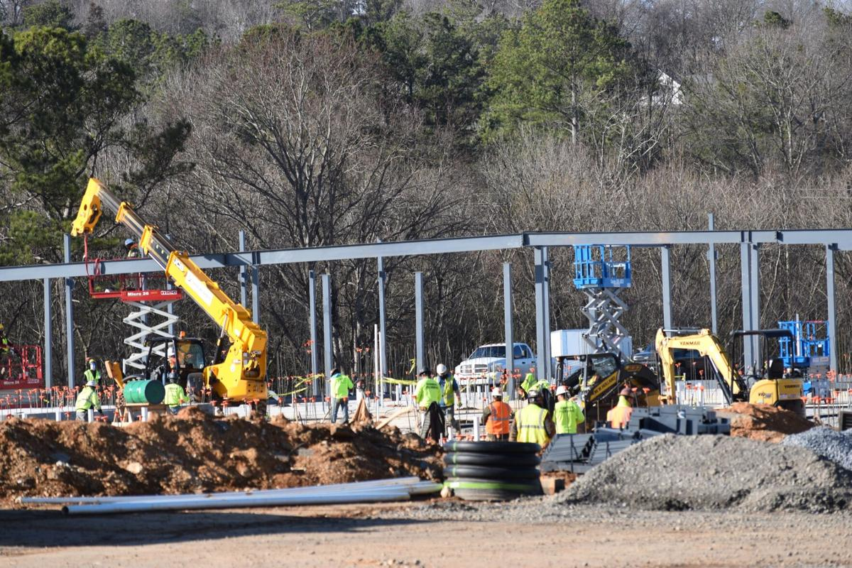 Steel going up at new Calhoun Early Learning Academy site