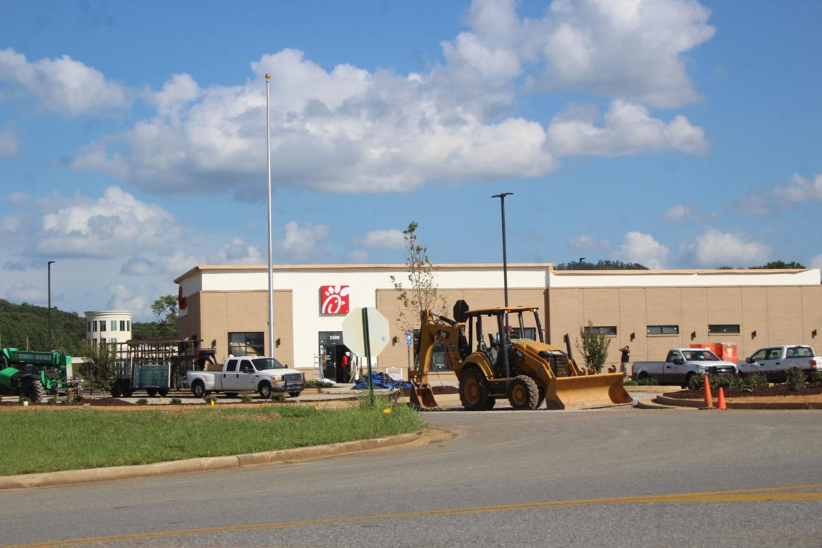 Chick-fil-A in Rockmart construction, August 2017