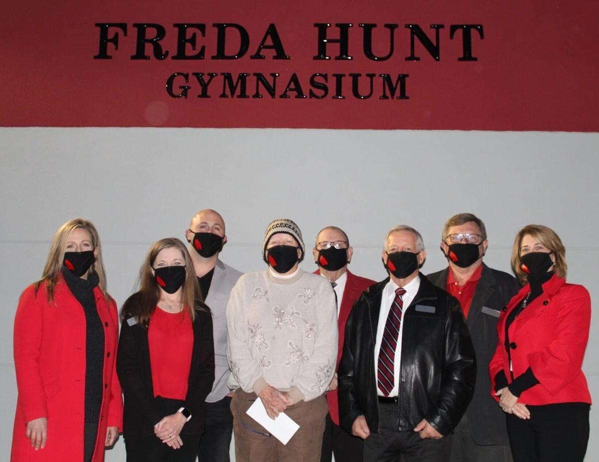Freda Hunt gym dedication
