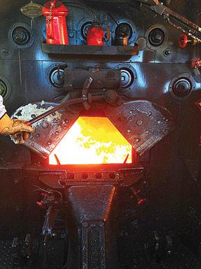 Engine cab burning fuel
