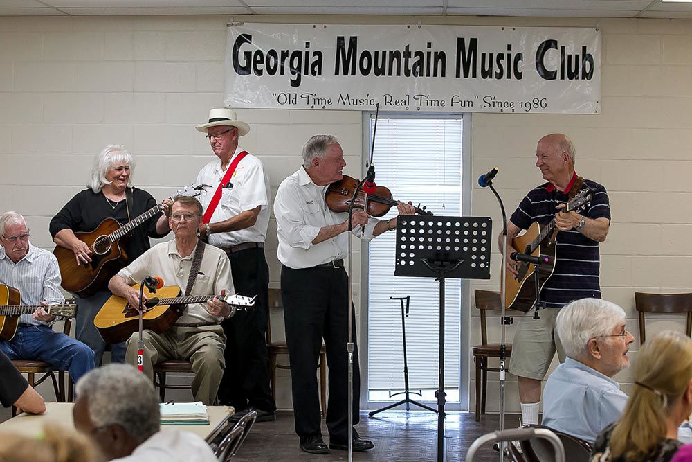 "Georgia Mountain Music Club has toe tapping time at ""Ole Tyme Music and Homemade Ice Cream"" event"