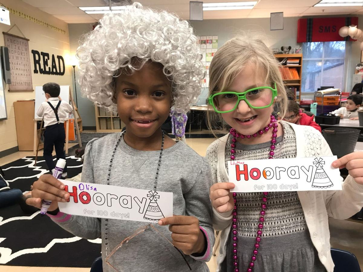 St. Mary's students celebrates 100th day of school by dressing up as old people
