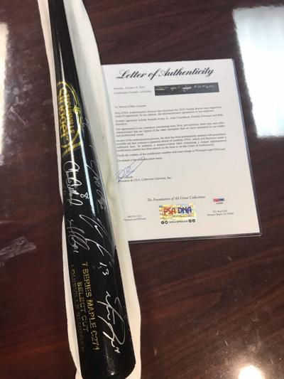 Raffle opened up for bat signed by Atlanta Braves, to benefit scholarship program
