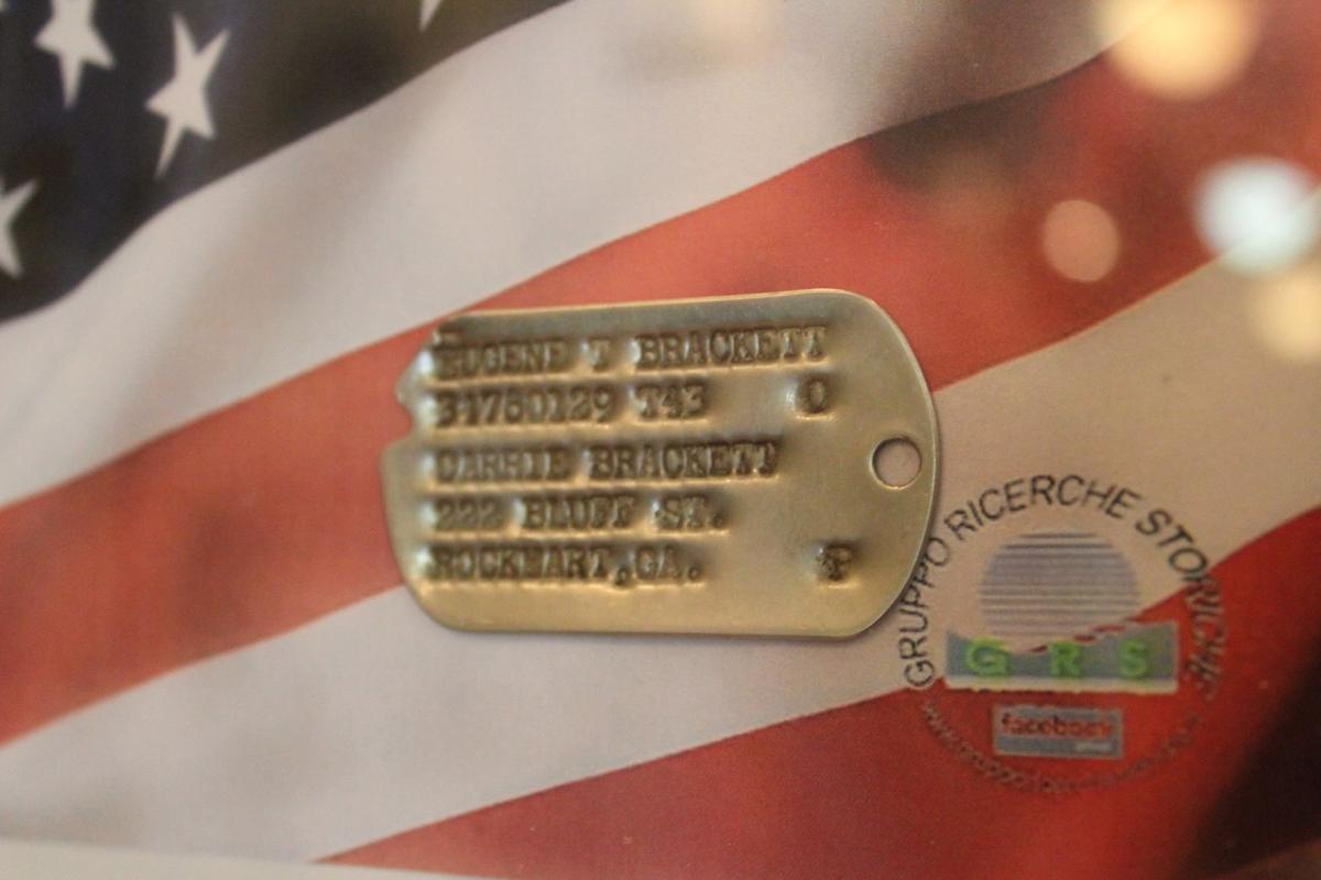 Dog tag on display at Rockmart History Museum
