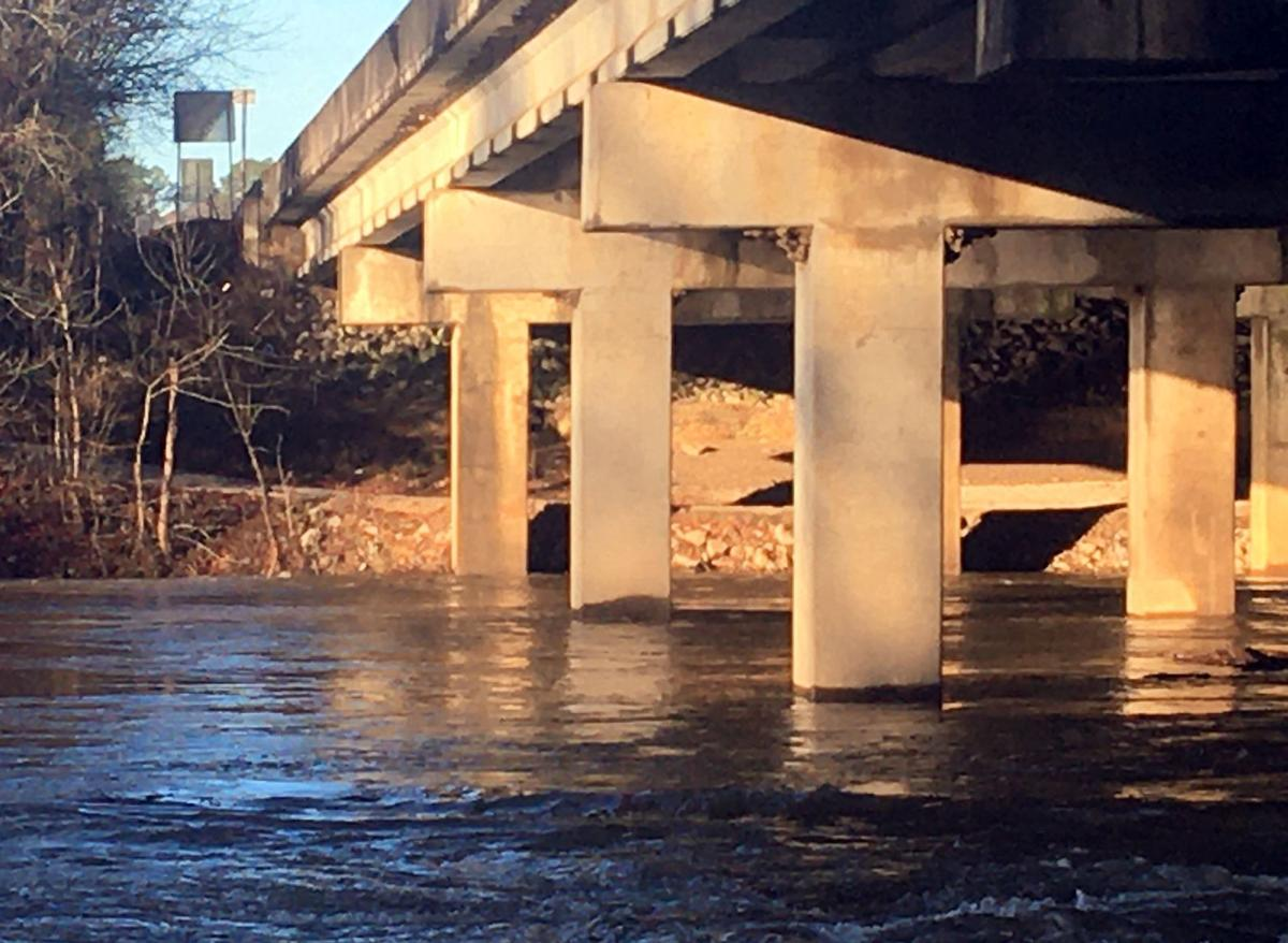 Rivers are up after nearly three inches of rain
