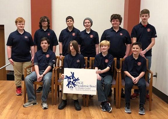 Heritage Middle School Academic Bowl team