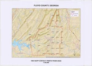 Floyd County, 1993: Aerial photography index