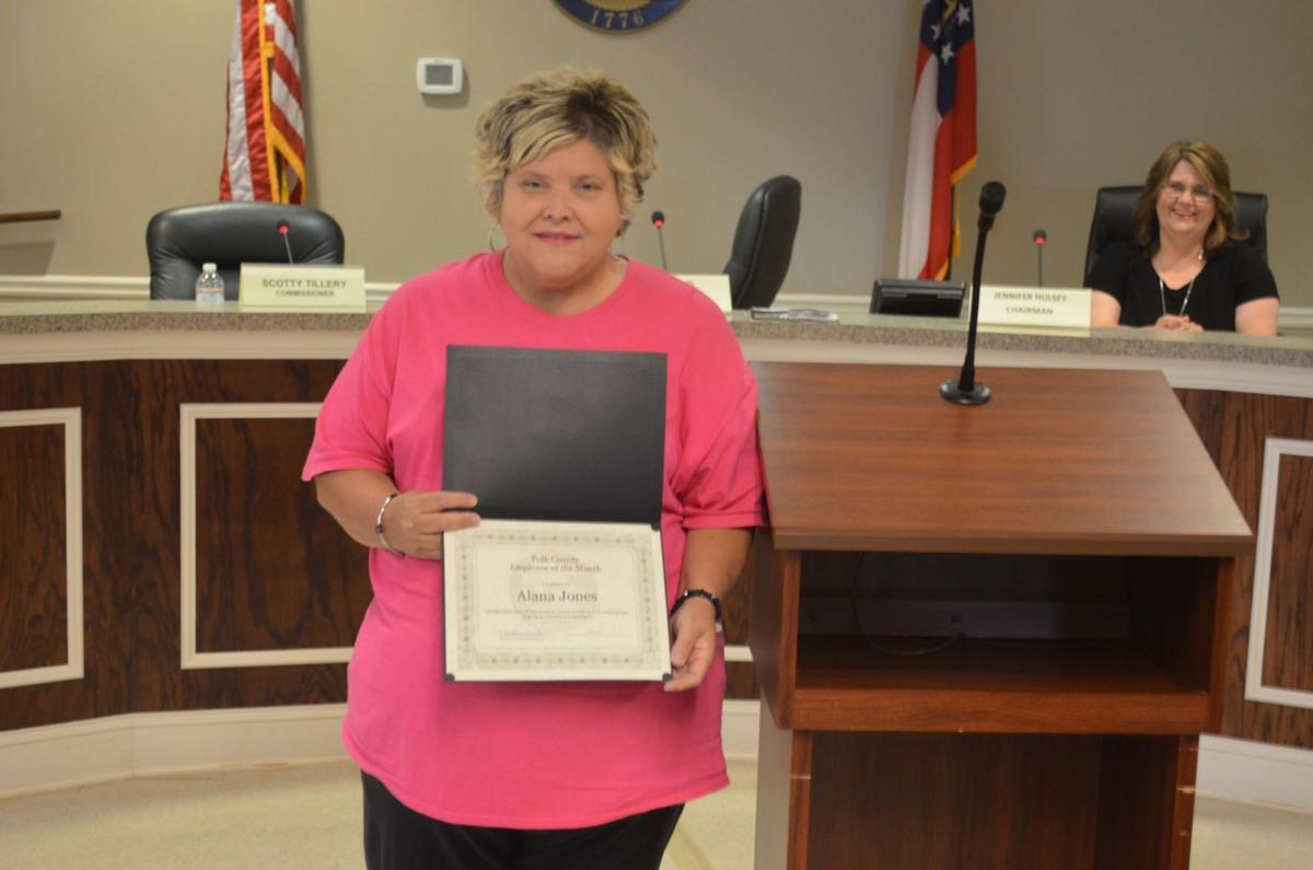Polk County Commission June 2019 employee of the month