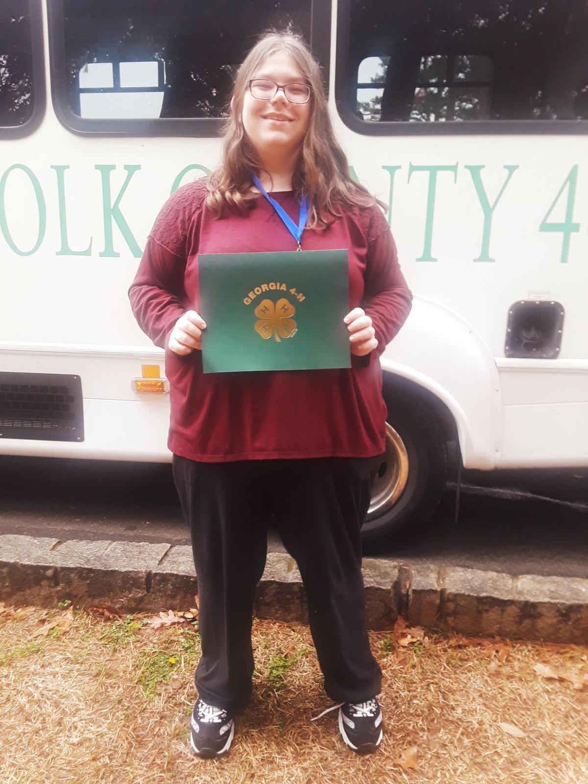 Grace Prince wins big at 4-H district project achievement