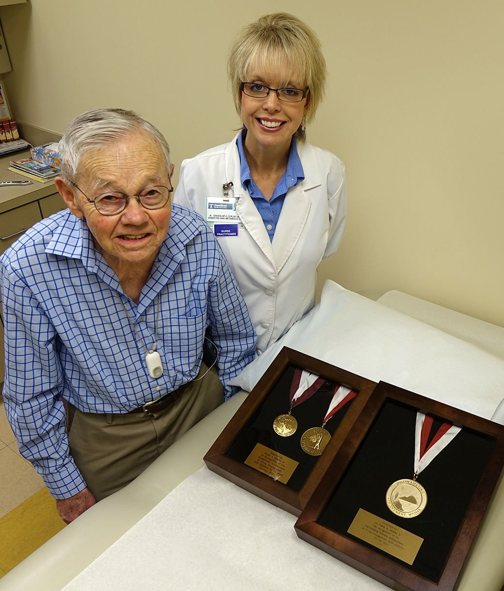 Hamilton Diabetes and Endocrinology Center patient has been living well with diabetes for more than 80 years