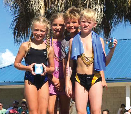 Blue Barracudas 8-under Mixed Relay Team