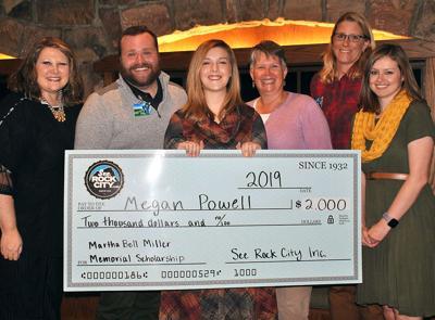 Rock City scholarship winner Megan Powell