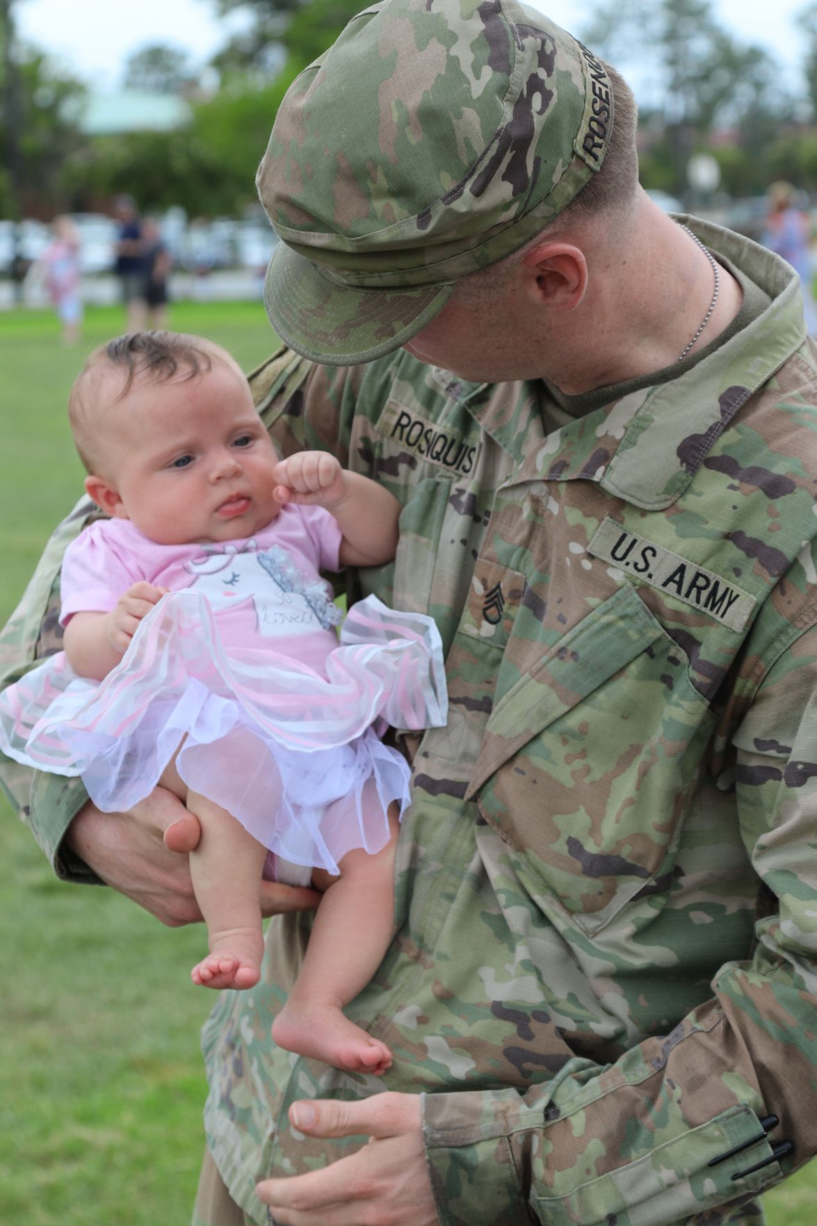 Solider with baby