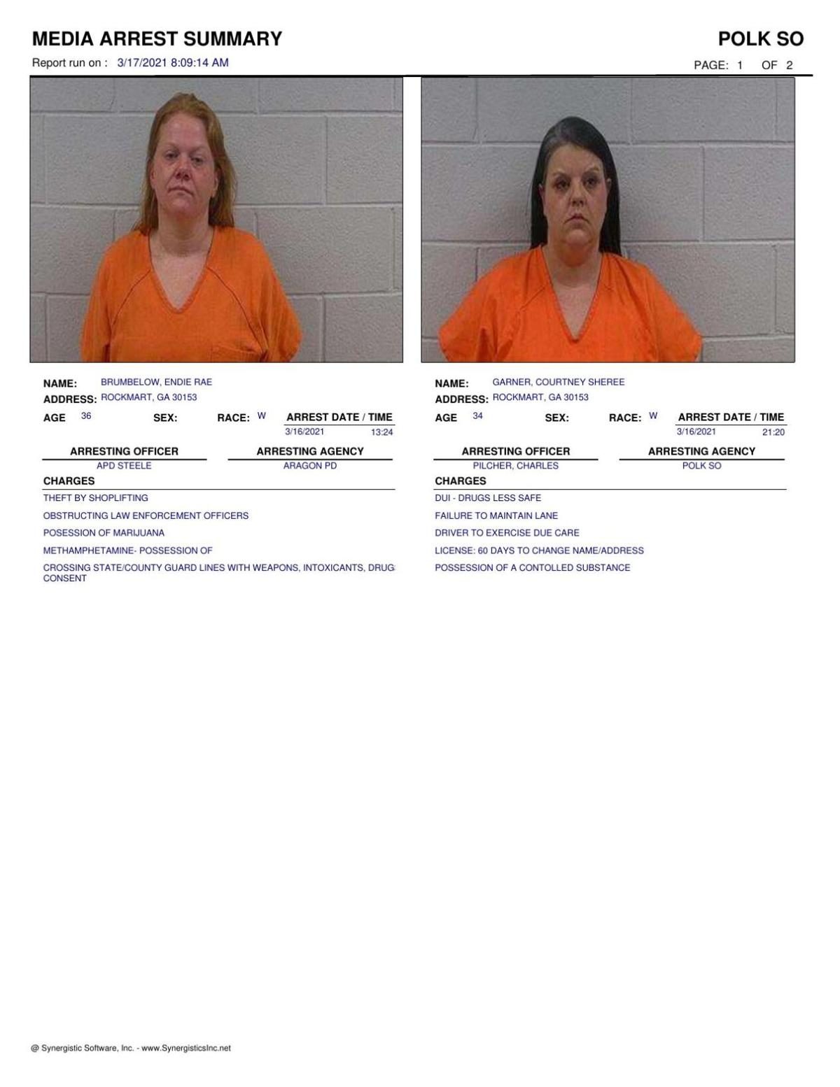 Polk County Jail Report for Wednesday, March 17