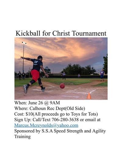 Charity kickball tournament set for June 26