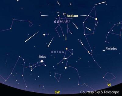 2017 Geminid meteor showers this week, best tonight (Dec  13