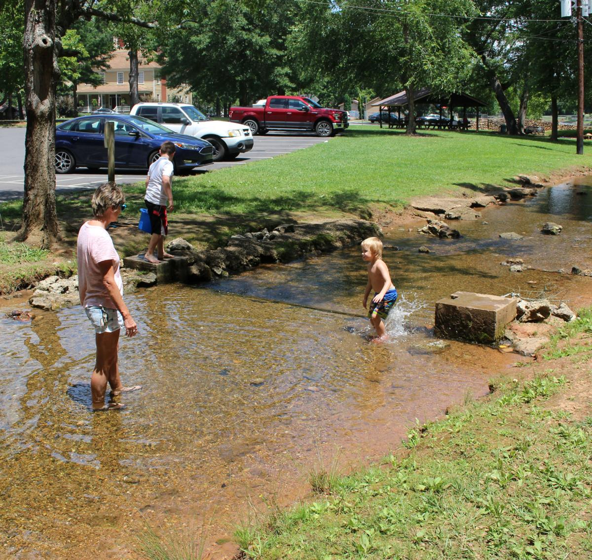 Swimming and splashing at Rolater Park