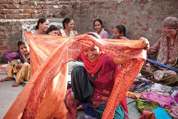 Vintage saris