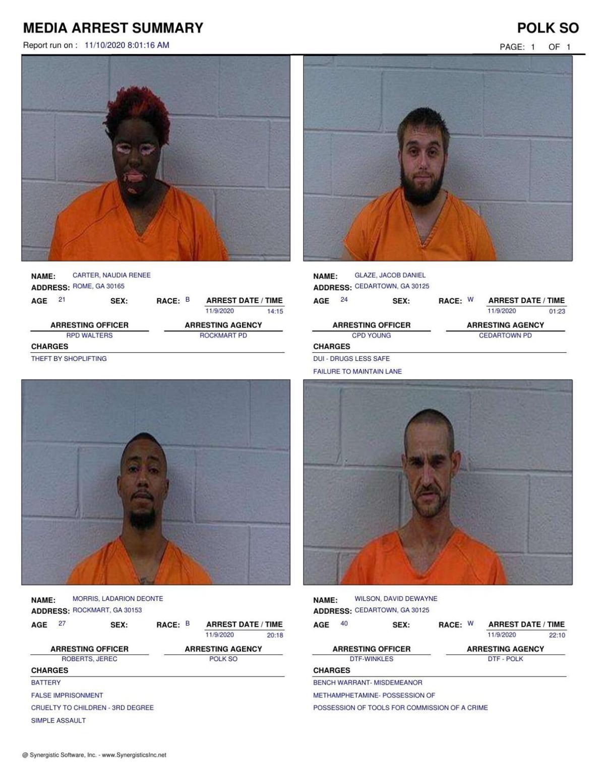 Polk County Jail Report for Tuesday, Nov. 10