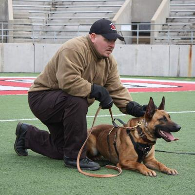 Deputy Corey Griffin with K9 Partner Rocky during training