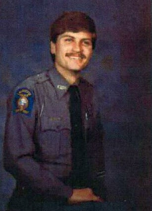 Walker County Sheriff Steve Wilson when he was a police officer