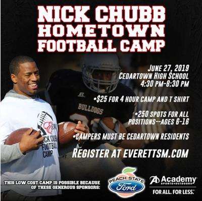 Nick Chubb football camp 2019