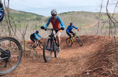Riding the Pinhoti Trail in Cave Spring