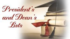 GNTC president's and dean's list