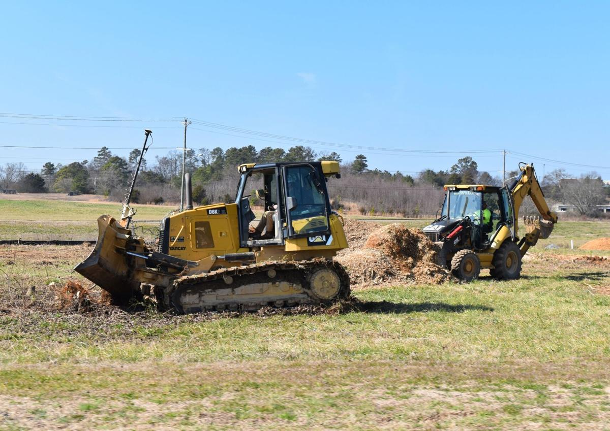 Grading begins at future police department site