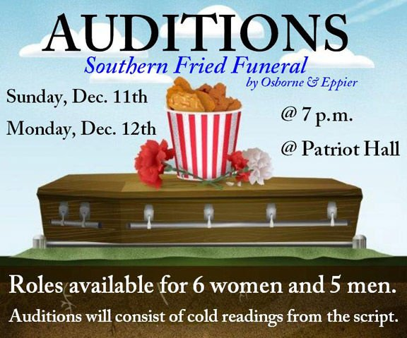 """Auditions for """"Southern Fried Funeral"""""""